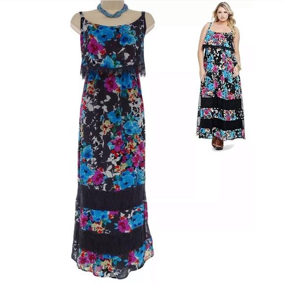f41c15a92d torrid Dresses | 3x 22 24 Floral Lace Maxi Dress Plus Size | Poshmark